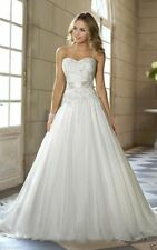 New Elegant White/Ivory Wedding Dress Bridal Gown Custom Size 6 8 10 12 14 16 ++