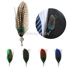 Men's Peacook Feather Brooches Brooch Pins Corsage Wedding Party Cosplay Decor