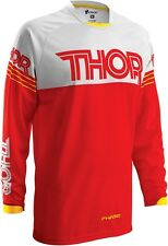 NEW THOR MX RACING MENS ADULT ATV RIDING PHASE HYPERION RED/WHITE MOTO X JERSEY