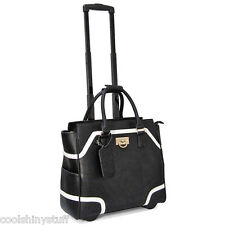 Cabrelli Rolling Carry-On Color Block Laptop Bag Womens Wheeled Briefcase 713930