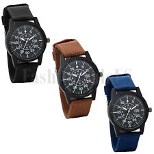 Mens Didital Dial Army Military Nylon Strap Sport Quartz Wrist Watch with Date