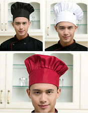 Catering Fashion Kitchen Men Hat Cap Adjustable Elastic Chef Cook Baker