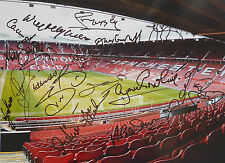 Manchester United Signed 16x12 Photo - x20 Legends, Old Trafford, Ince, Martin