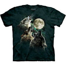 THREE WOLF MOON T-Shirt The Mountain Wolves Howling At Night Adult Tee S-3XL NEW