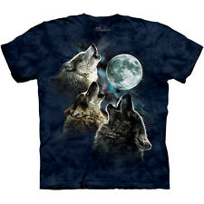 THREE WOLF MOON BLUE T-Shirt The Mountain Moon Wolves Howling Howl S-3XL NEW