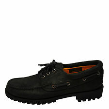 Timberland Men's Authentic 3-Eye Classic Lug Black Nubuck TB0A11ZO