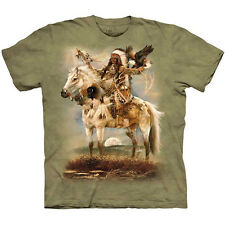 SPIRIT Native American T-Shirt Indian Chief Horse Eagle Animal S-3XL NEW