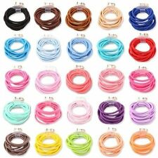 50x Candy Color Thick Endless Snag Free Hair Elastics Bobbles Bands