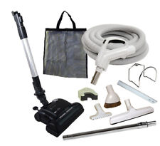 30' or 35' Deluxe Central Vacuum Kit w/Hose, Power Head & Tools For Hayden