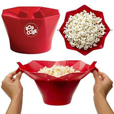 Silicone Microwave Magic Popcorn Maker Popcorn Container Healthy Cooking DIY