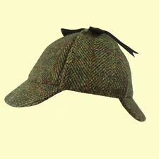 Harris Tweed Deerstalker Hat Sherlock Holmes Hat Shooting Fish S to XL