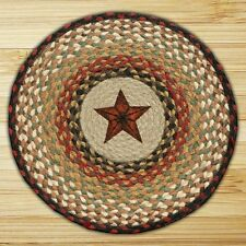 C-019 Barn Star Printed Jute Braided Chair Pads Set - NEW!