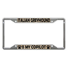 ITALIAN GREYHOUND DOGS Metal License Plate Frame Tag Holder Four Holes