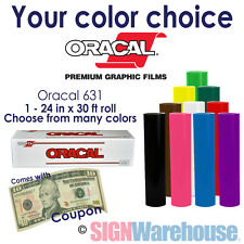 ORACAL 631 Glossy Sign Vinyl 71 Colors for Craft Cutter Decals by SignWarehouse