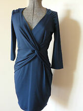 REVIEW BEAUTIFUL CROSSOVER STRETCHY MEGAN DRESS/EVENING/PARTY/WORK RRP:200 NWT