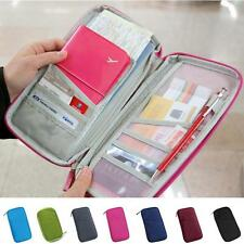 Candy Color Passport Credit ID Card Holder Cash Wallet Organizer Bag Purse