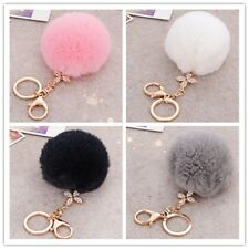 Four leaf clover hairy ball cute key chain bag pendant keychain car key ring