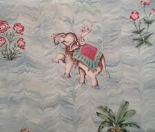 Zoffany Fabric 'Jaipur'  sky blue Elephants 2.25 metres long