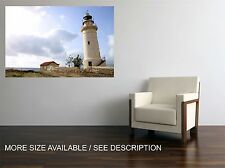 Canvas Print  Picture  Vintage White Lighthouse / Stretched ready to hang