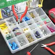 Plastic 24 Compartment Storage Box Case Bead Rings Jewelry Display Organizer