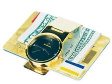 Steinhausen Gold Plated Money Clip Clock Watch