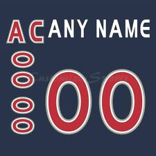 Hockey All Star 2000-01 North America Navy Jersey Customized Number Kit un-sewn