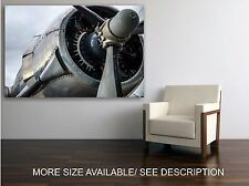 Canvas Print Picture Vintage Airplane Engine / Stretched- ready to hang