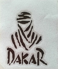 Dakar Man black high quality vinyl  sticker 7.0cm x 5.0cm BMW GS R1200
