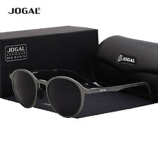 Jogal Aluminium Polarized Sunglasses Retro Round UV400 Driving Mirrored Eyewear