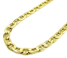 """Men's Women's SOLID 14K Yellow Gold Mariner Link Chain 4MM 18""""-24"""" Inches"""