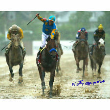Victor Espinoza American Pharoah Autographed Signed Preakness 8x10 Photo Steiner