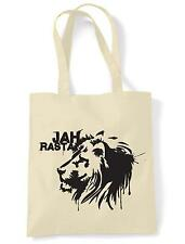 JAH RASTA SHOULDER  SHOPPING BAG- Reggae Lion Of Judah Rastafarian Bob Marley