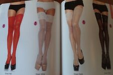 Spandex sheer thigh highs with 5 inch silicone stay up l one sz & plus sz LA9750