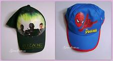 MARVEL SPIDER-MAN Blue or G.I. JOE The RISE OF COBRA Black Hat Cap 4-6X One Size