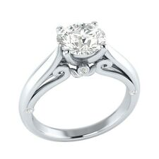 1.05 ct Real Topaz & Authentic Diamond Solid Gold Wedding Engagement Ring