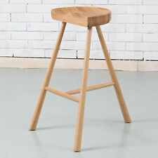 Jensen Timber Bar Stool - Solid Oak Wood - 70cm high
