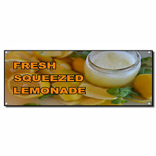 Fresh Squeezed Lemonade Food And Drink Vinyl Banner Sign W/ Grommets