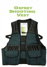 Osprey GREEN Drill Shooting Vest,Duck Shooting,clay shooting Vest