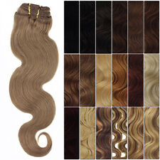 AB01 New Fashion STW Clip in 100% Remy Human Hair Extensions 8 Pcs Full Head