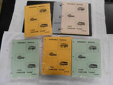 (1) NEW 1960-69 CORVAIR MONZA RAMPSIDE CORSA SPYDER GREENBRIER ASSEMBLY MANUAL