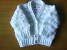 Handmade Crocheted Unisex Baby Bobble Cardigan various colours 100% Acrylic
