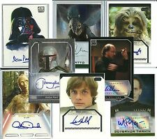 Topps Authentic: Star Wars - TRADING CARD AUTOGRAPHS - (1995-2013) PICK-LIST