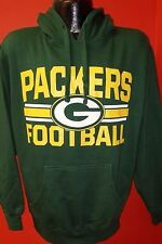 Green Bay Packers NFL Football Green Majestic Pullover Hoodie Sweatshirt