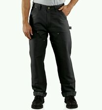 Carhartt Firm-Duck Double-Front Dungarees Flannel-Lined Mens Work Pants NWT 2nds
