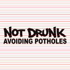 Not Drunk Avoiding Potholes JDM Euro Decal Sticker hoon tuner street drift stanc