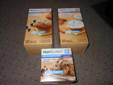 Nutrisystem D diabetic Box of 4 blueberry muffin, cinnamon bun OR chip cookies