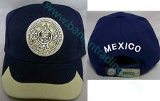 """Aztec Calendar Mexico""  Embroidered Caps   1Pc Wholesale 6 Pcs (ECapMx32#)"
