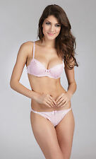 E et D S42060 Embroidery Padded Push Up Bra (wf matching panties) diff colours