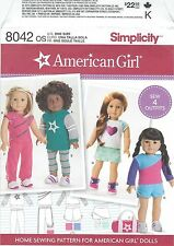 "Simplicity 8042 American Girl 18"" Knit Doll Clothes   Sewing Pattern"
