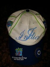 INDIA ICC 2007 WORLD CUP BASEBALL CAP Official ICC Licensed Merchandise